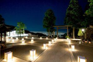 阿夫利神社(下社)ライトアップ